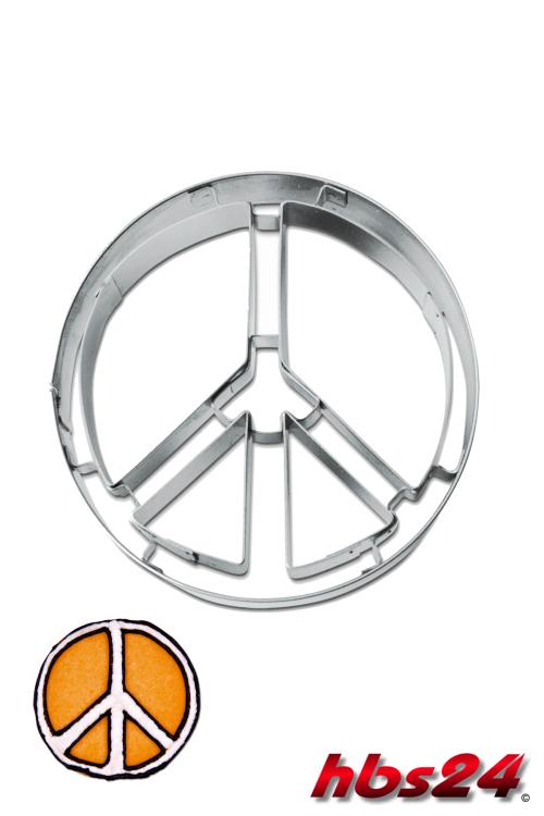 peace zeichen ausstechform 6 5 cm ausstecher hbs24. Black Bedroom Furniture Sets. Home Design Ideas