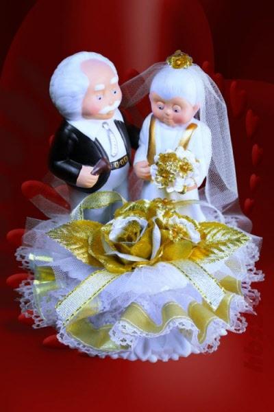 Brautpaar Goldene Hochzeit Porzellan Iv