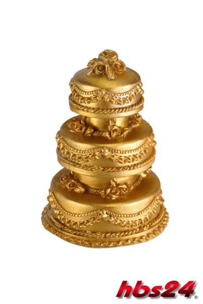 Deko Hochzeitstorte Rund Gold Hbs24